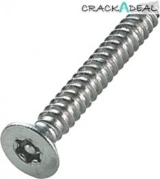 6-lobe/resistorex Security Screws, Countersunk, ø 4.8 Mm