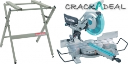 Makita 110v/240v 305 Mm Slide Compound Mitre Saw And Table Set