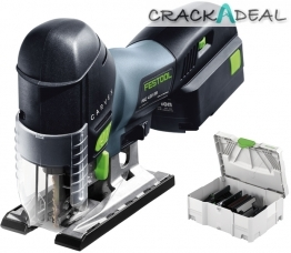 Festool Pendulum Carvex Psc 420 Eb-set Li 15 And Li 18 Cordless Jigsaw Set