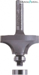 """Rounding Cutter, With 2 Ball Bearing Guides, ø 1/4"""" Shank"""