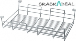 Stackable Wire Basket Set, Chrome Plated Steel
