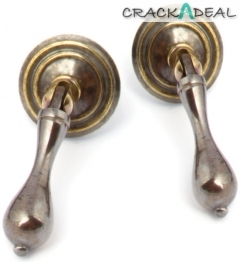 Clare Furniture Drop Handles, Antique Brass
