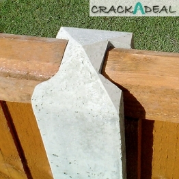 Gee-co Concrete Slotted Intermediate Fence Post 125mm X 100mm X 2700mm