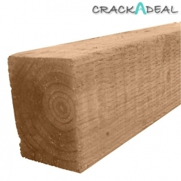 Brown Treated Incised Uc4 Fence Post 100mm X 100mm