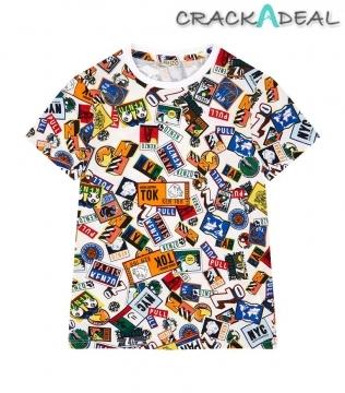 Bolbi Boarding Pass Print T-shirt 14 Years