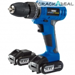 Storm Force® Cordless Hammer Drill With Two Li-ion Batteries (14.4v)