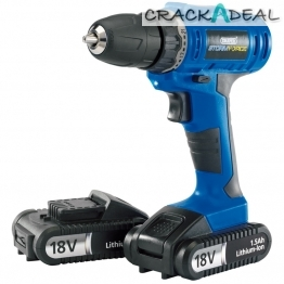 Storm Force® Cordless Drill With Two Li-ion Batteries (18v)