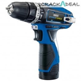 Storm Force® 10.8v Cordless Hammer Drill With Two Li-ion Batteries