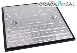 Clark Drain Manhole Cover And Frame Galvanised Steel 600mm X 600mm 2.5 Tonne -pc7ag