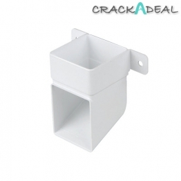 Osma 4t832w Squareline Pipe Shoe & Bracket White