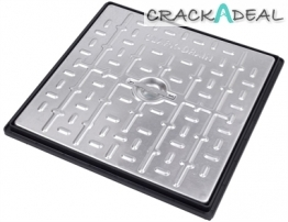 Clark Drain 450x450mm Galvanised Steel Manhole Cover Single Seal 2.5t With Frame Pc5ag