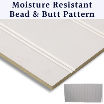 9mm Primed Mdf Wall Panels Beaded And Grooved | Tongue & Groove Pattern | Moisture Resistant Mdf Panels For Walls And Bath