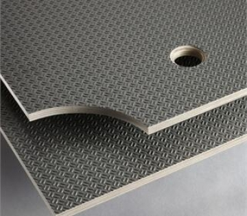 Phenolic Plywood Black Anti Slip Mesh Birch Plywood Chequer Plate (ripple) Pattern